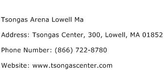 Tsongas Arena Lowell Ma Address Contact Number