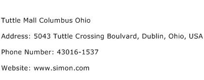 Tuttle Mall Columbus Ohio Address Contact Number
