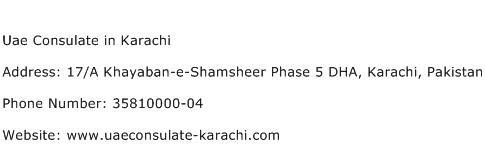 Uae Consulate in Karachi Address Contact Number
