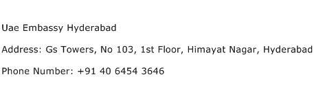Uae Embassy Hyderabad Address Contact Number