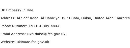 Uk Embassy in Uae Address Contact Number