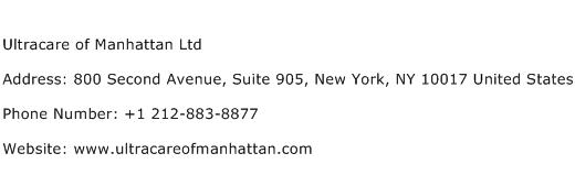 Ultracare of Manhattan Ltd Address Contact Number