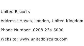 United Biscuits Address Contact Number