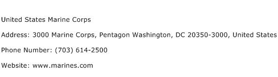 United States Marine Corps Address Contact Number
