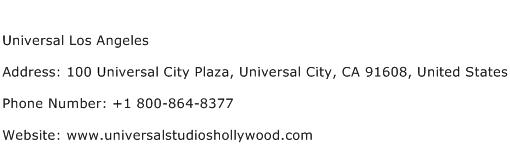 Universal Los Angeles Address Contact Number