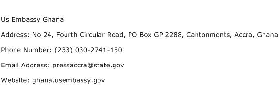 Us Embassy Ghana Address Contact Number
