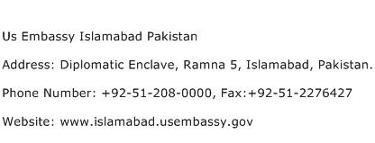 Us Embassy Islamabad Pakistan Address Contact Number