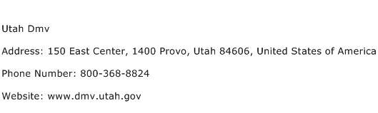 Utah Dmv Address, Contact Number of Utah Dmv