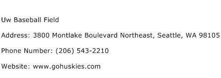 Uw Baseball Field Address Contact Number