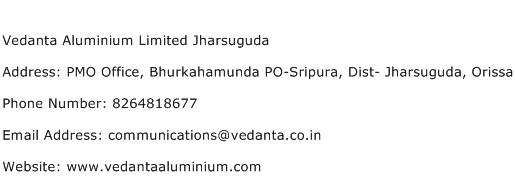 Vedanta Aluminium Limited Jharsuguda Address Contact Number
