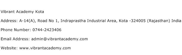 Vibrant Academy Kota Address Contact Number