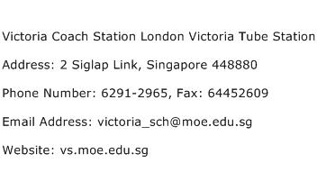 Victoria Coach Station London Victoria Tube Station Address Contact Number