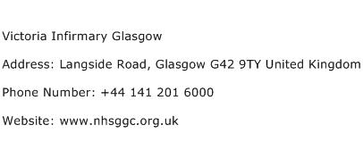 Victoria Infirmary Glasgow Address Contact Number