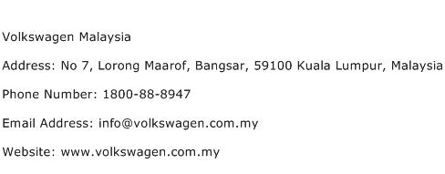 Volkswagen Malaysia Address Contact Number