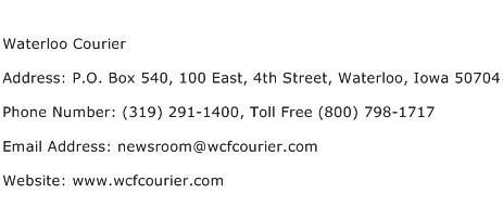 Waterloo Courier Address Contact Number