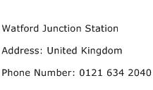 Watford Junction Station Address Contact Number