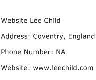 Website Lee Child Address Contact Number