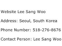 Website Lee Sang Woo Address Contact Number