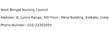 West Bengal Nursing Council Address Contact Number