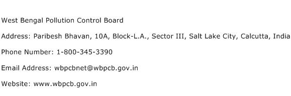 West Bengal Pollution Control Board Address Contact Number