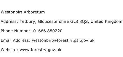 Westonbirt Arboretum Address Contact Number
