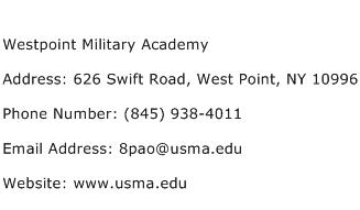 Westpoint Military Academy Address Contact Number
