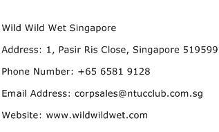 Wild Wild Wet Singapore Address Contact Number