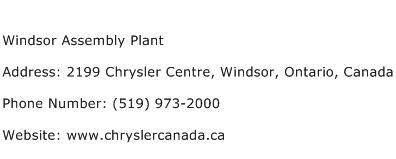 Windsor Assembly Plant Address Contact Number