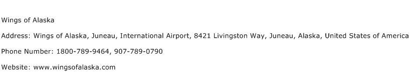 Wings of Alaska Address Contact Number