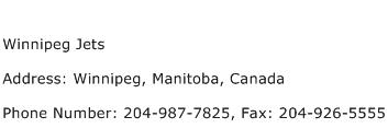 Winnipeg Jets Address Contact Number