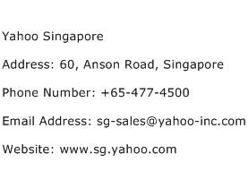 Yahoo Singapore Address Contact Number