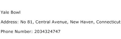 Yale Bowl Address Contact Number