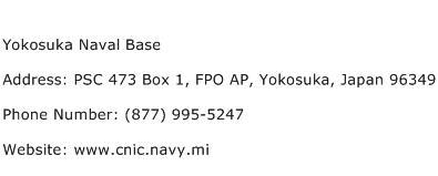 Yokosuka Naval Base Address Contact Number