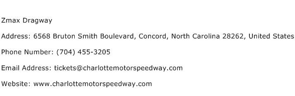 Zmax Dragway Address Contact Number