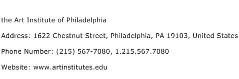 the Art Institute of Philadelphia Address Contact Number