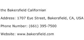 the Bakersfield Californian Address Contact Number