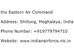 the Eastern Air Command Address Contact Number