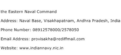 the Eastern Naval Command Address Contact Number