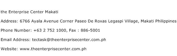 the Enterprise Center Makati Address Contact Number