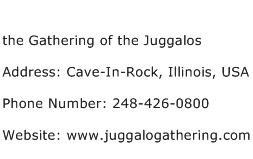the Gathering of the Juggalos Address Contact Number