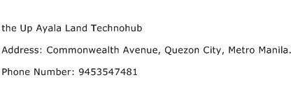 the Up Ayala Land Technohub Address Contact Number
